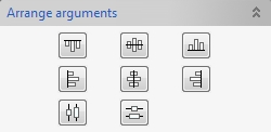 "The ""arrange arguments"" tools"
